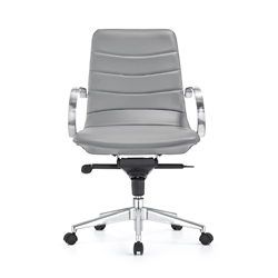 Marie Gray Leather Office Chair