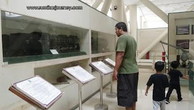 bagian dalam museum transportasi tmii