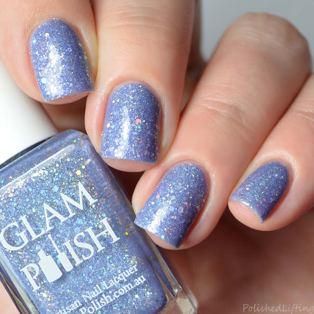 periwinkle holographic nail polish