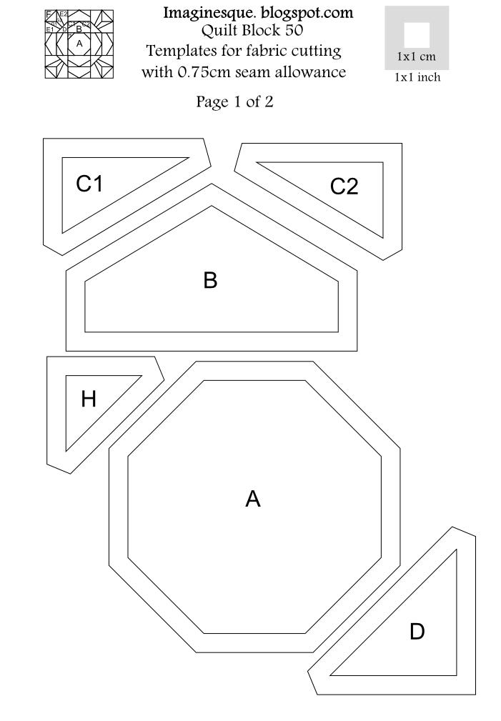 Imaginesque Quilt Block 50 Pattern Amp English Paper