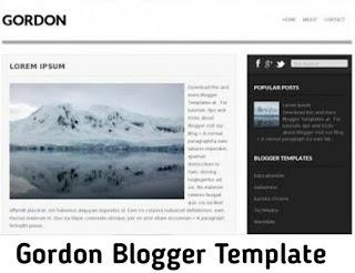 Gordon Blogger Template