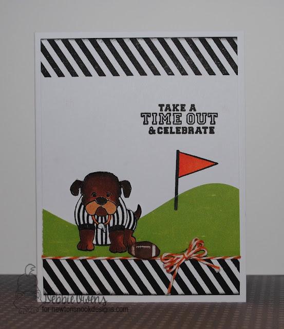 Touchdown Tails Card by Debbie Owens featuring Newton's Nook Deisgns