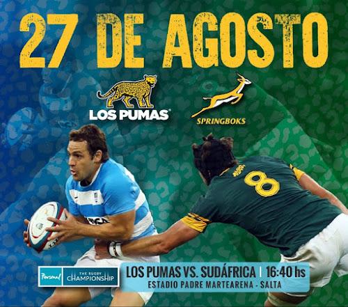 Los Pumas confirmados para enfrentar a Sudáfrica en Salta