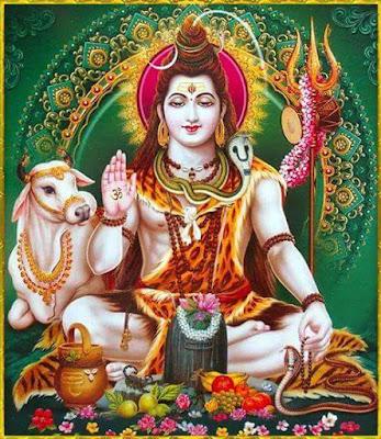 hindu god lord sadashiva in meditation