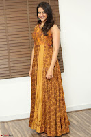 Rakul Preet Singh smiling Beautyin Brown Deep neck Sleeveless Gown at her interview 2.8.17 ~  Exclusive Celebrities Galleries 012.JPG