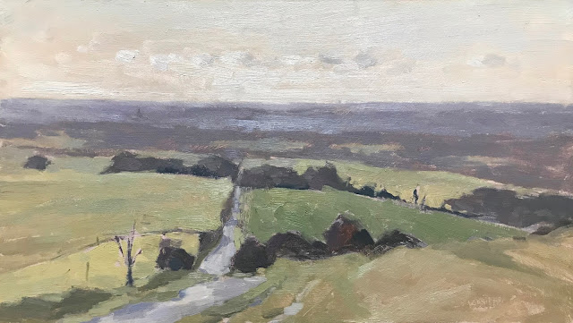 #287 'The Trundle, South Downs' 8×14″