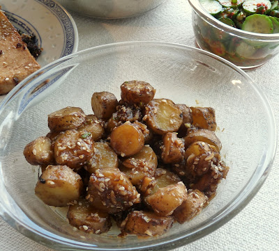 Korean Sweet & Salty Potatoes