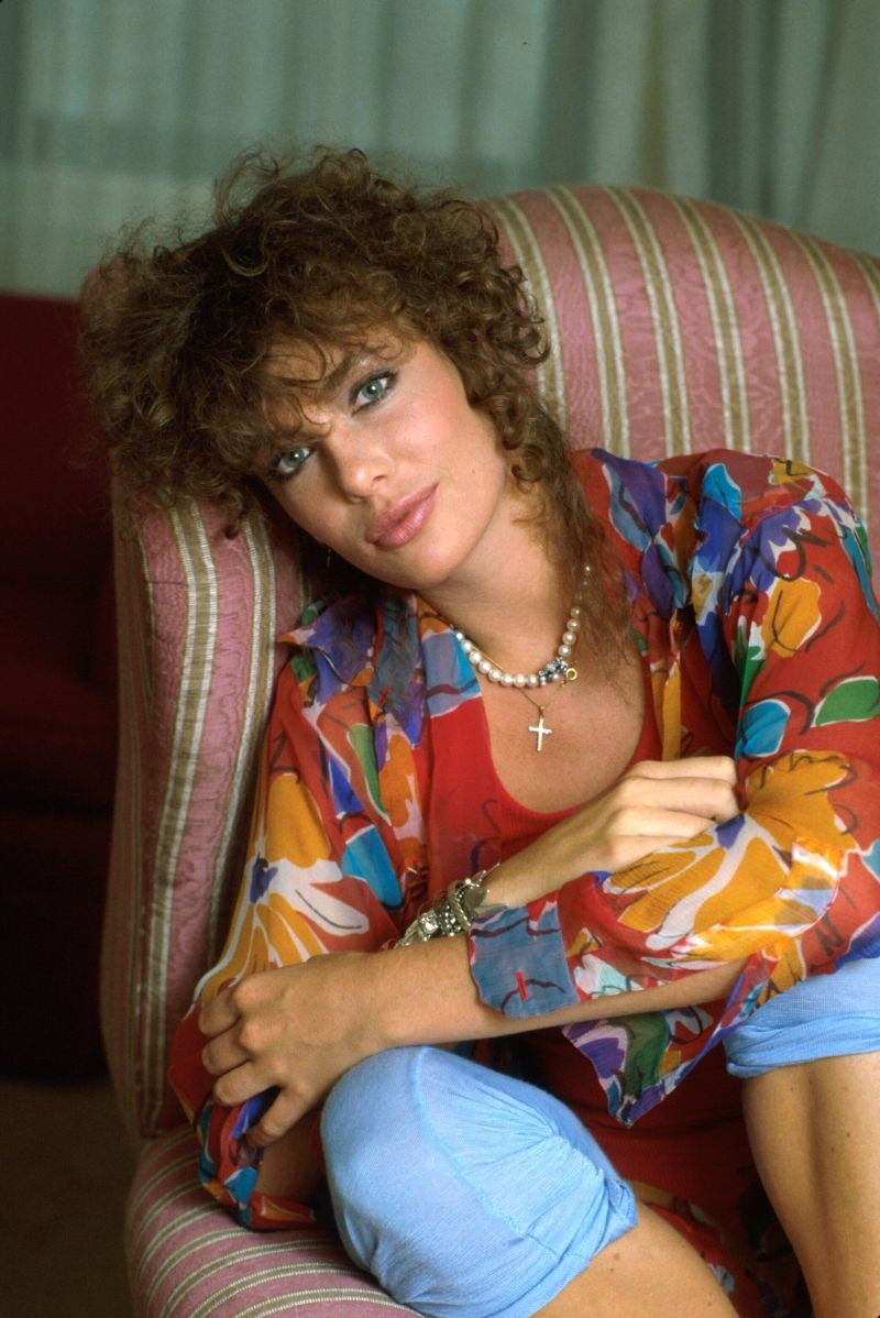 Pictures Of Kelly Lebrock In Far Too Tiny White T Shirt In