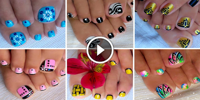How To Make These Top 6 Toenail Art, See Tutorial