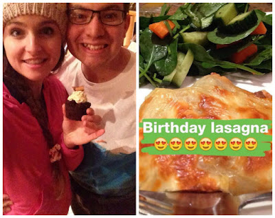 Kristy's 24th Birthday Celebration - Cupcakes and Lasagna