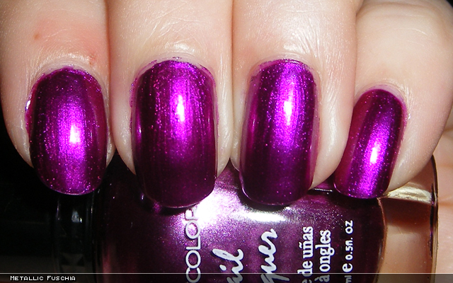 xoxoJen's swatch of Kleancolor Metallic Fuschia