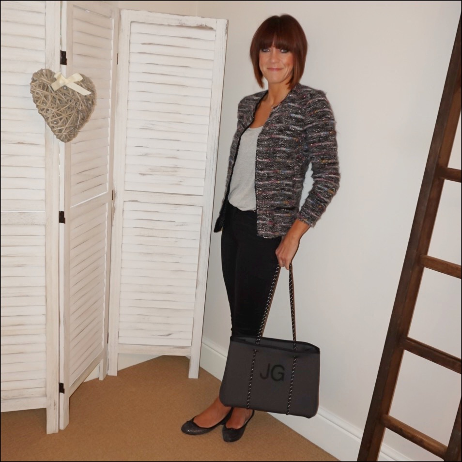 my midlife fashion, isabel marant etoile boucle knitted jacket, splendid scoop neck batwing t shirt, donna ida rixo skinny jeans, french sole snakeprint ballet pumps