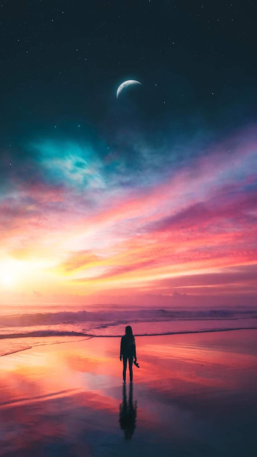 Galactic sunset