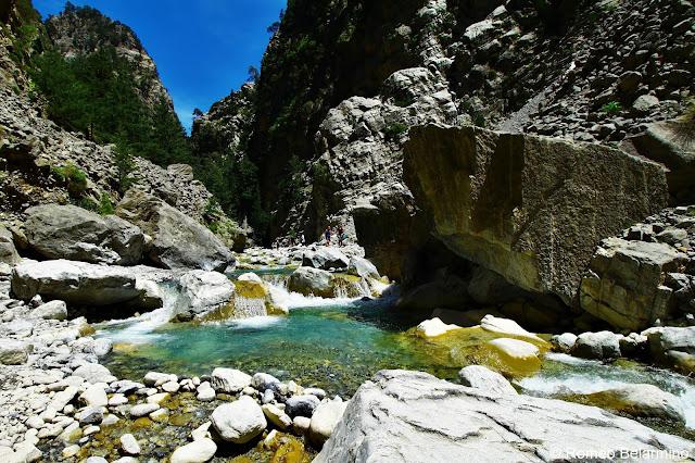 Samaria Gorge River Samaria Gorge Hike Crete Greece
