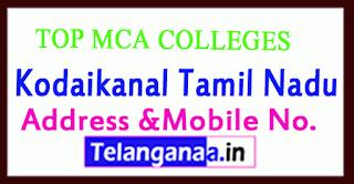 Top MCA Colleges in Kodaikanal Tamil Nadu