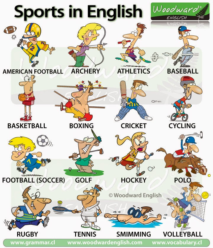 sport vocabulary english sports eso ingles con 2º
