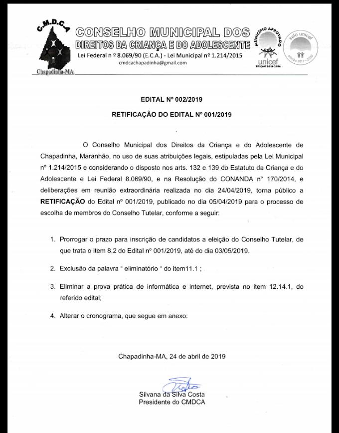 CMDCA PRORROGA INCRIÇÕES DE CANDIDATOS PARA O CONSELHO TUTELAR