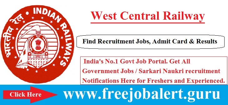 West Central Railway, Railway, Railway Apprentice Jobs, RRB Recruitment, wcr logo