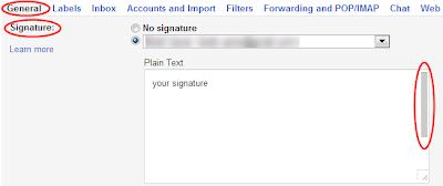 Settings->General->Signature