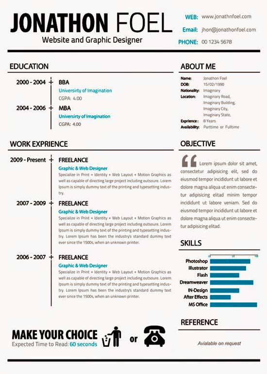 Free Creative Resume Template 12
