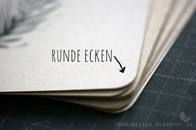 Ynas Design Blog, Stempel, Heft binden