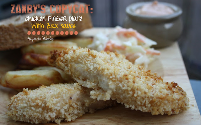 Copycat Zaxby's Chicken Finger Plate with Zax Sauce from www.anyonita-nibbles.com