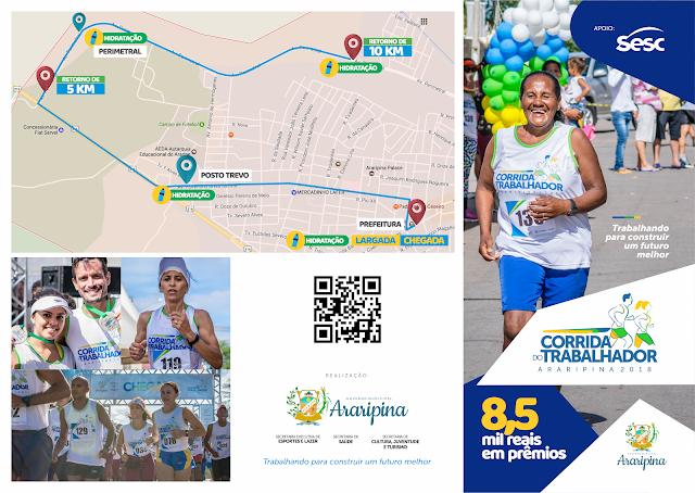 Prefeitura de Araripina promove Corrida do Trabalhador com R$ 8,5 em premiações