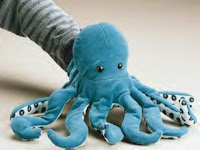 blue octopus puppet plush folkmanis