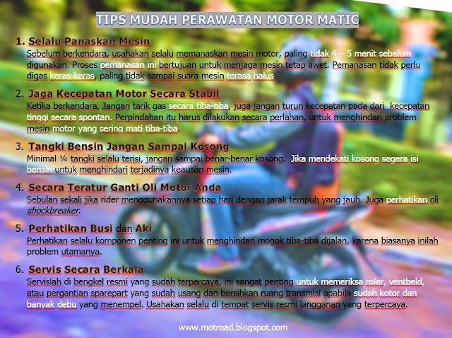 Tips mudah dan irit perawatan motor matic | motroad.blogspot.com