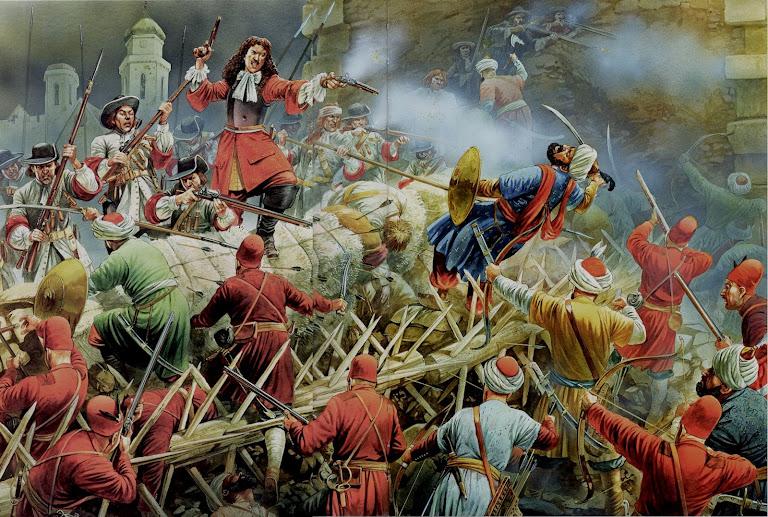 O assedio turco foi cada vez mais desesperador.