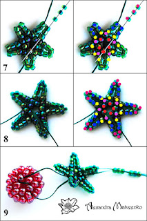 Part 4 Free beading pattern and tutorial for raspberry or blackberry stems