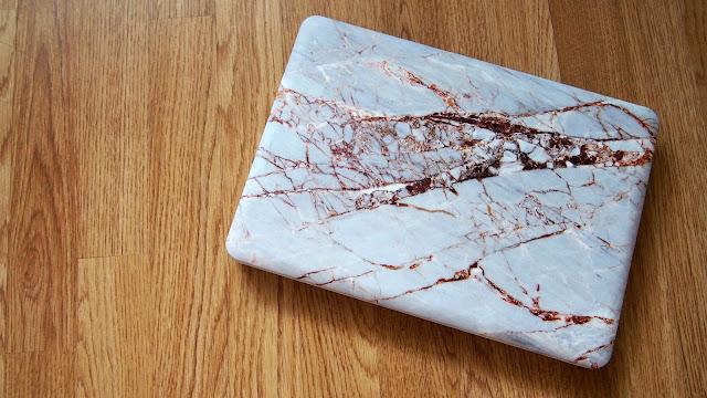 Rose Gold Marble Laptop Case
