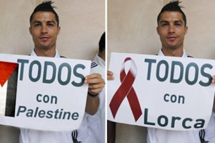 Ronaldo gives 1,5 million dollars to Palestinian people