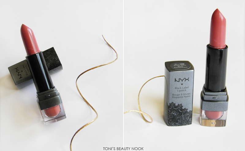 nyx black label dusty rose lipstick