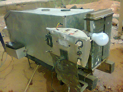 Photos: A Biafran creates Water-Powered Generator and a machine that turns non-biogradable waste into fuel, kerosene,and diesel Eemm