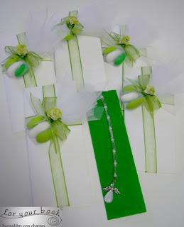 bomboniera cresima segnalibro personalizzato verde