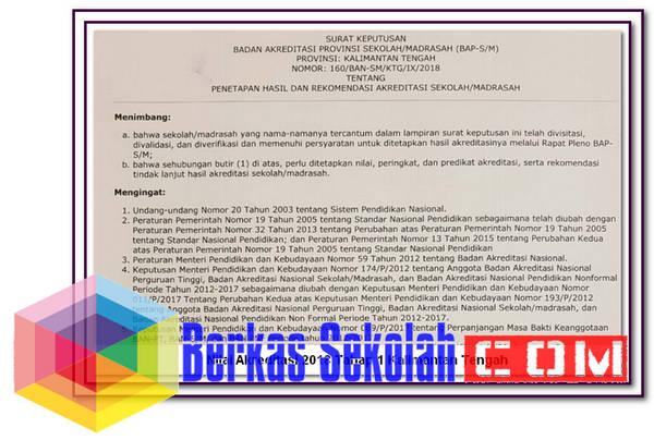 Nilai Akreditasi 2018 Tahap 1 Kalimantan Tengah