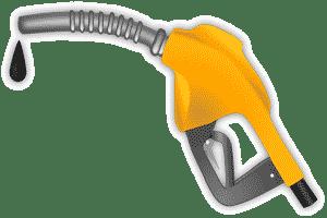 Surtidor de gasolina, uno de los productos provenientes del petróleo