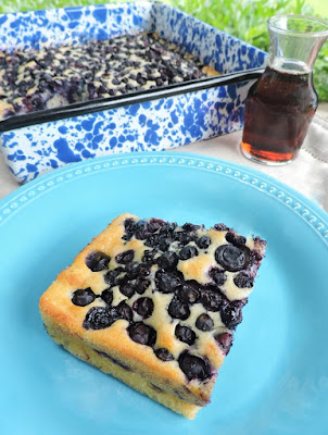 Baked Blueberry Ginger Pancake