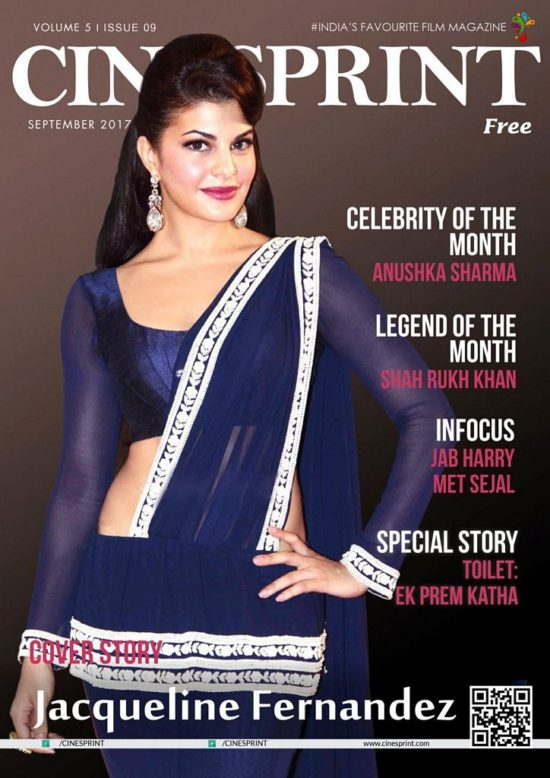 Jacqueline Fernandez On The Cover of Cinesprint Magazine September 2017