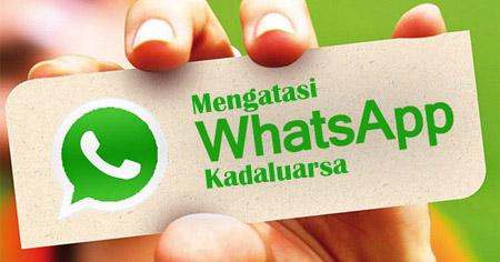 tips mengatasi whatsapp kadaluarsa tanpa update