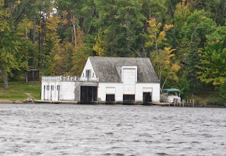 boathouse on water