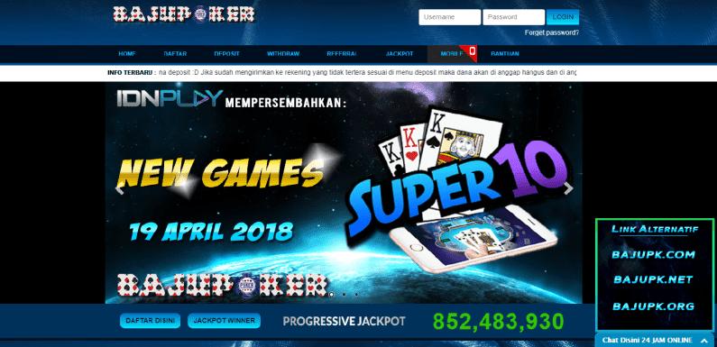 BajuPoker Agen Poker Online Bermutu