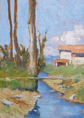Gino Tommasi - veduta agreste - arte - dipinti - macchiaioli - annunci