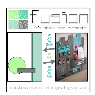 fusion 4th anniversary challenge & simon says stamp patterned paper challenge