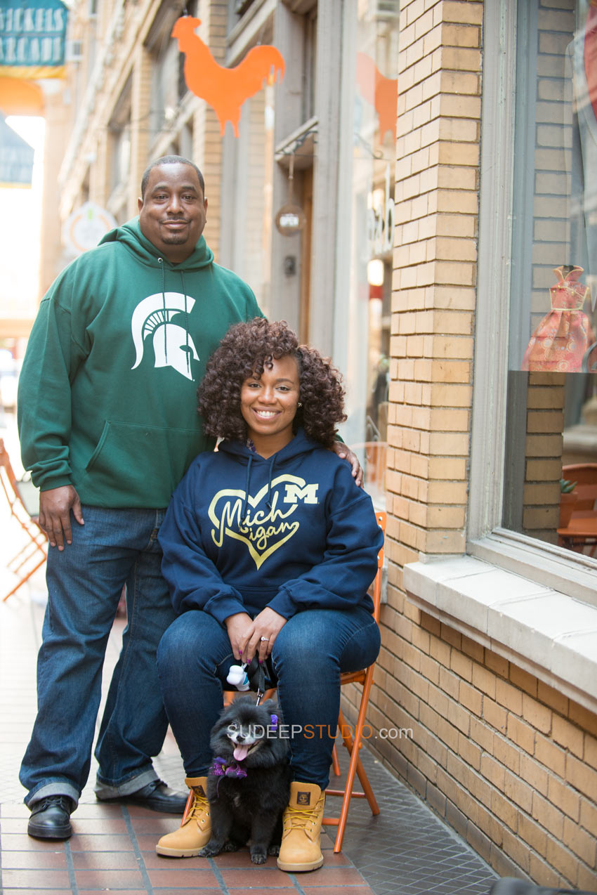 Ann Arbor Downtown Engagement Photography Session - Sudeep Studio.com Ann Arbor Photographer