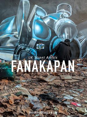 Brick Lane street art in the Seven Star Yard by artist Fanakapan