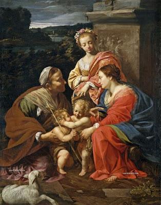 Simon Vouet - La virgen y el nino,1624-1626.
