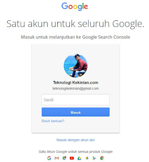 login email google console