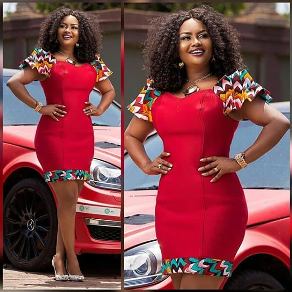 Ladies! See These Latest African Ankara Print and Plain Combination